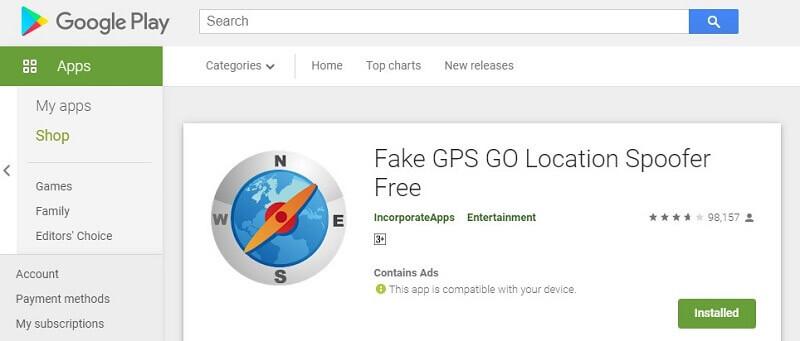 fake gps go app